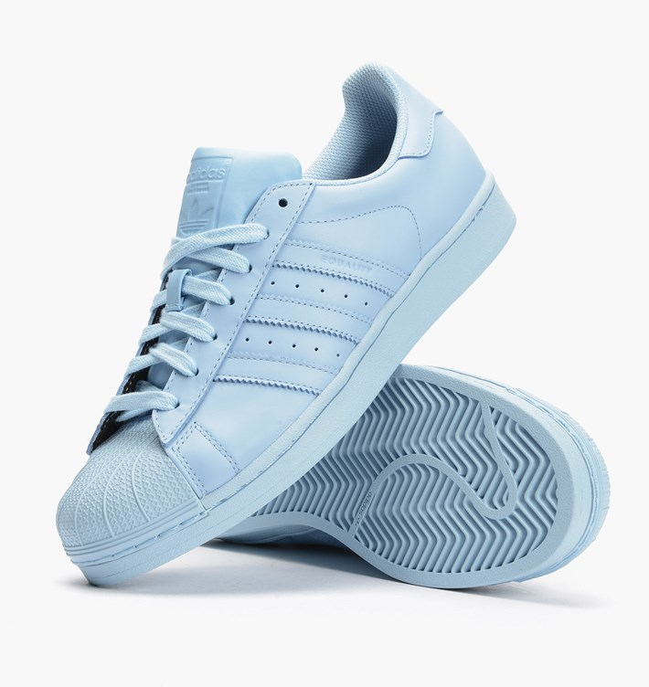 Women\'s Adidas Originals Superstar Supercolor Pack Shoes Clear Sky/Clear Sky/Clear Sky S41830
