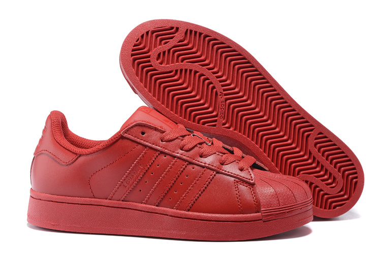Women's Adidas Originals Superstar Supercolor Pack Shoes Red S09/Red S09/Red S09 S41833