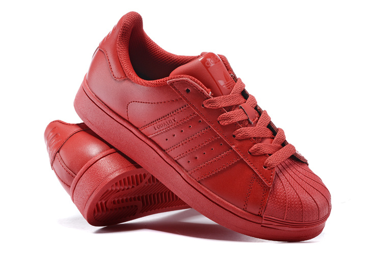 Women\'s Adidas Originals Superstar Supercolor Pack Shoes Red S09/Red S09/Red S09 S41833