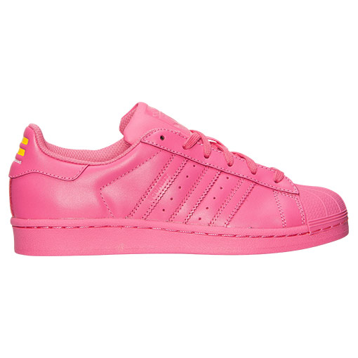 Women's Adidas Originals Superstar x Pharrell Williams Supercolor Casual Shoes Semi Solar Pink S31606