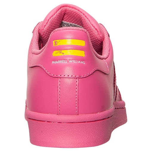Women\'s Adidas Originals Superstar x Pharrell Williams Supercolor Casual Shoes Semi Solar Pink S31606