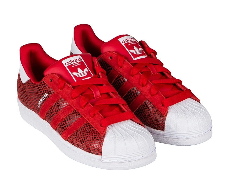 Women\'s Adidas Originals Superstar W Casual Shoes University Red/Running White B35794