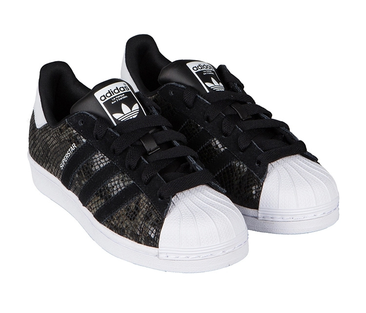 Men's/Women's Adidas Originals Superstar W Casual Shoes Black/White B35797
