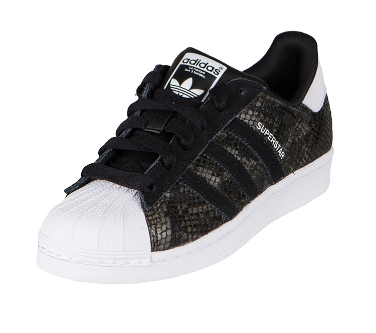 Men\'s/Women\'s Adidas Originals Superstar W Casual Shoes Black/White B35797