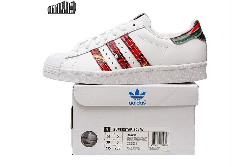 Women\'s Adidas Originals Superstar 80s Shoes Running White Ftw B26730