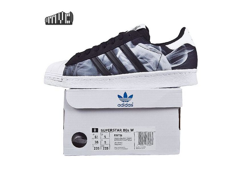 Women\'s Adidas Originals Superstar 80s Shoes Core Black B26728