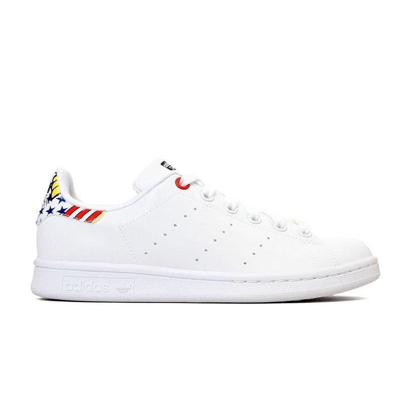 Men's/Women's Adidas Originals Stan Smith Shoes White/Multi B34067