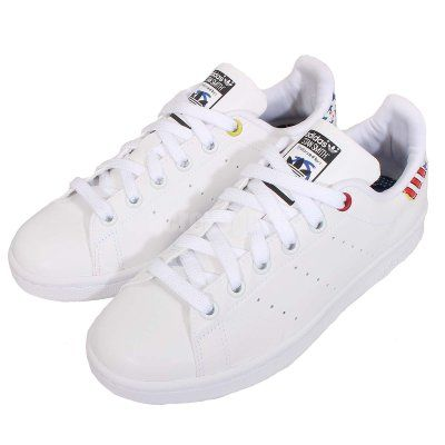 Men\'s/Women\'s Adidas Originals Stan Smith Shoes White/Multi B34067