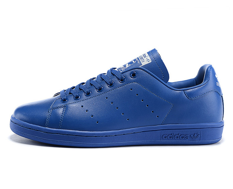 Men\'s/Women\'s Adidas Originals Pharrell Williams Stan Smith Tennis Shoes Bluebird/Bluebird/White B25386