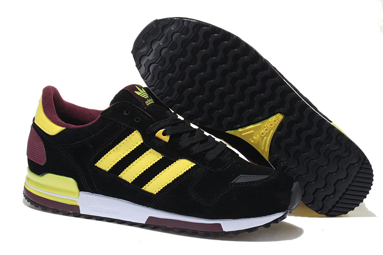 Men's/Women's Adidas Originals ZX 700 Shoes Black/Yellow/White Vapour M18254