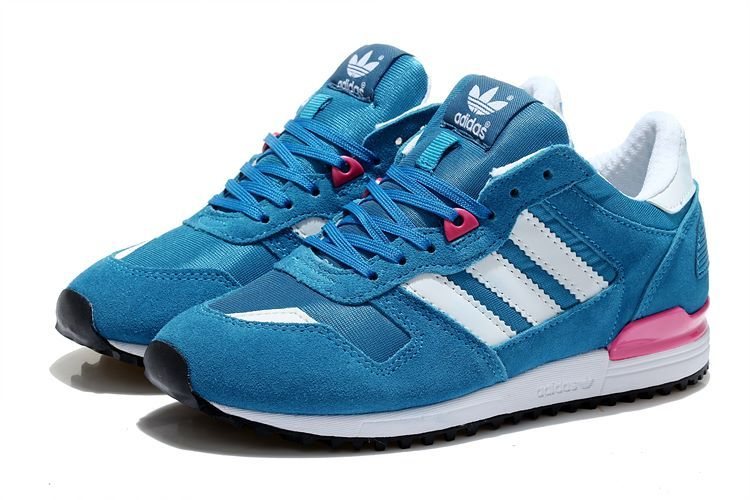 Men\'s/Women\'s Adidas Originals ZX 700 Shoes Hero Blue/White/Solar Pink M20978