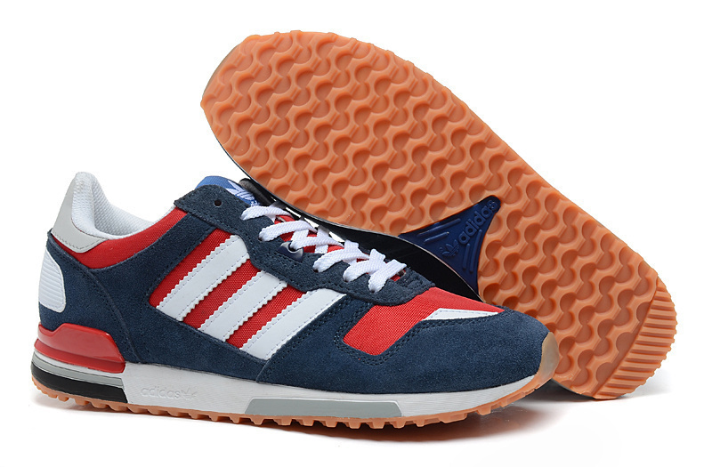 Men's/Women's Adidas Originals ZX 700 Shoes University Red/Running White/Blue G96517