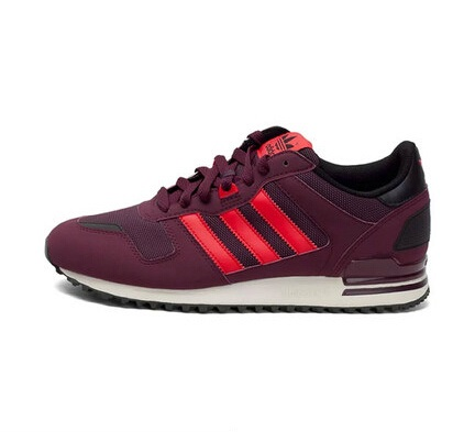 Men's/Women's Adidas Originals ZX 700 Shoes Burgundy Maroon Red White M18251