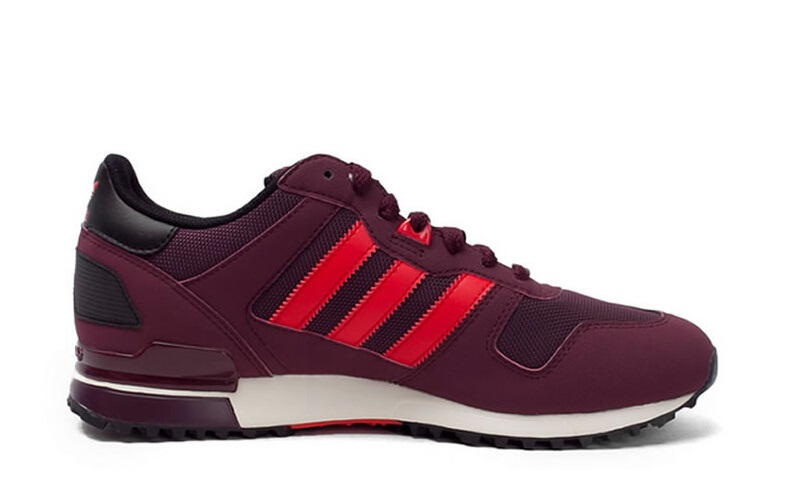 Men\'s/Women\'s Adidas Originals ZX 700 Shoes Burgundy Maroon Red White M18251