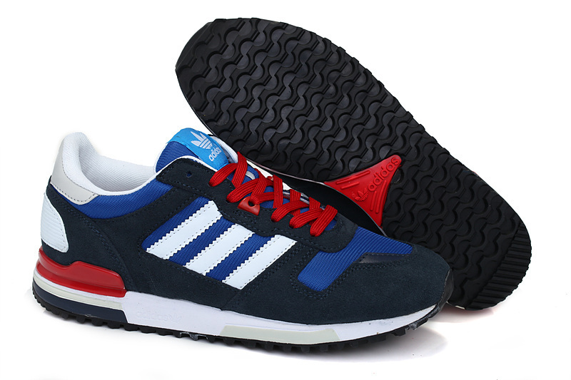 Men's Adidas Originals ZX 700 Shoes Navy White Red Q34280