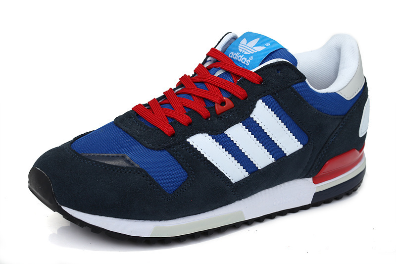 Men\'s Adidas Originals ZX 700 Shoes Navy White Red Q34280