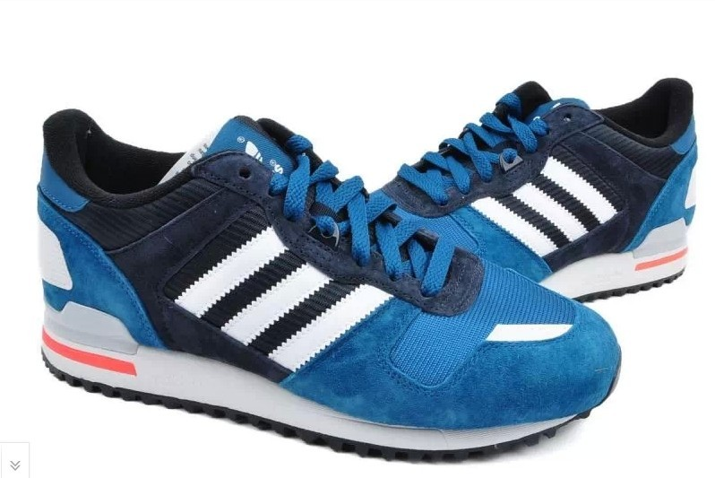 Men\'s Adidas Originals ZX 700 Shoes True Blue/White-Legened Ink D65644