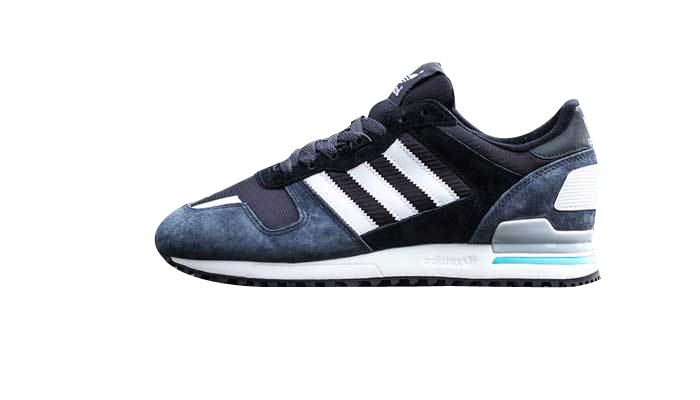 Men's Adidas Originals ZX 700 Shoes Carbon/Running White/Black D65287