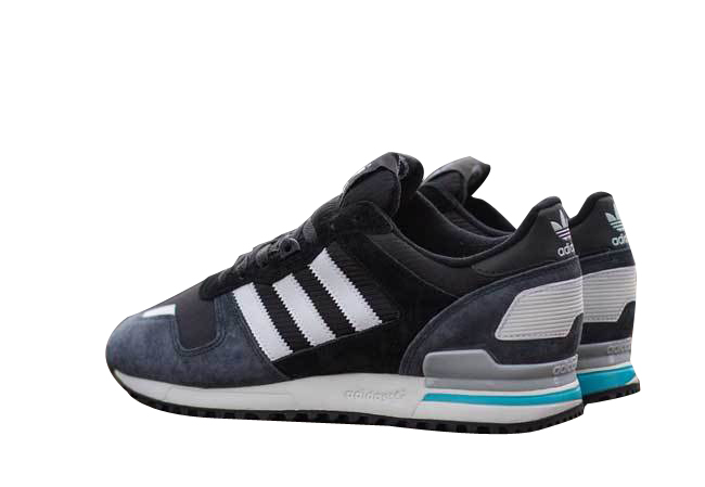 Men\'s Adidas Originals ZX 700 Shoes Carbon/Running White/Black D65287