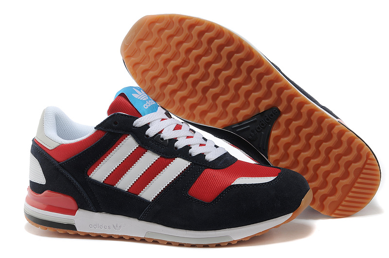 Men's Adidas Originals ZX 700 Shoes Navy Blue/Jade/Running White D96517