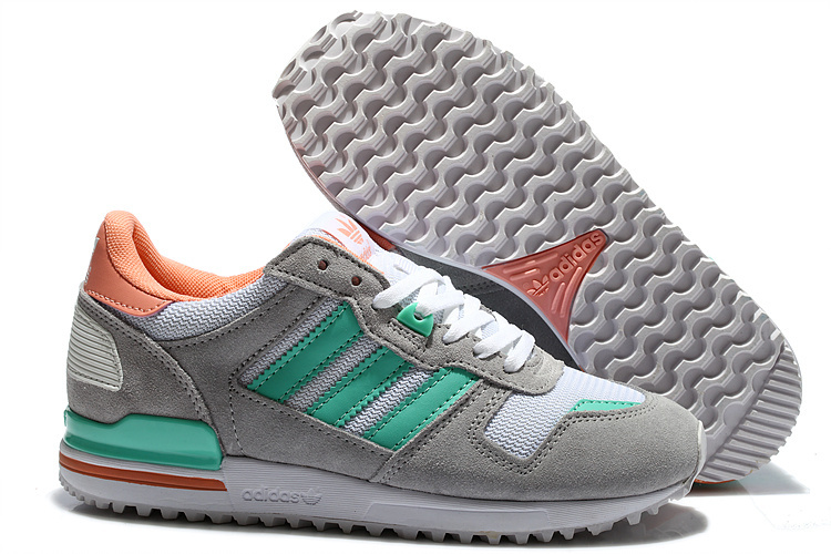 Women's Adidas Originals ZX 700 Shoes Grey/Mint/Pink M17709
