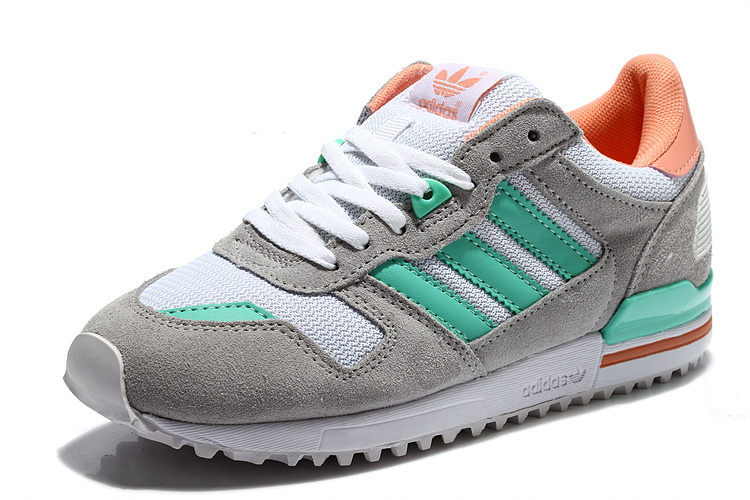 Women\'s Adidas Originals ZX 700 Shoes Grey/Mint/Pink M17709
