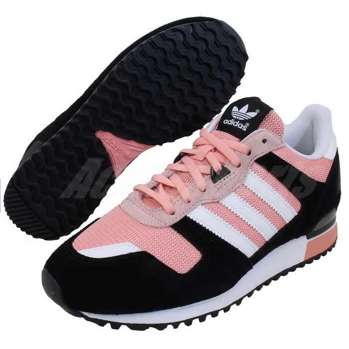 Women's Adidas Originals ZX 700 Shoes Black/Running White/St Fade Rose D65877