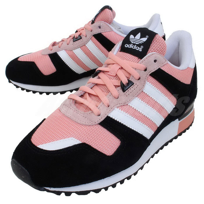Women\'s Adidas Originals ZX 700 Shoes Black/Running White/St Fade Rose D65877
