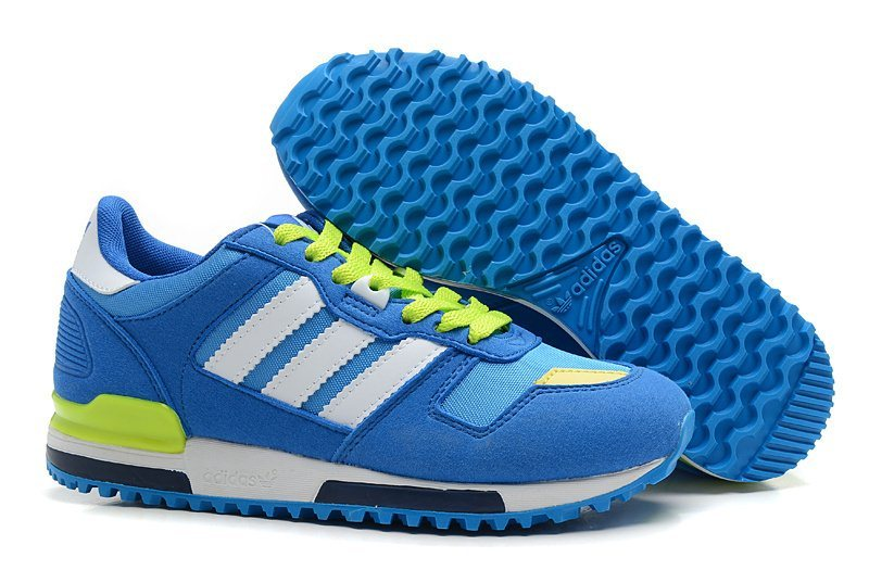 Women's Adidas Originals ZX 700 Shoes Royal Blue/Running White/Fluorescent Green G23281