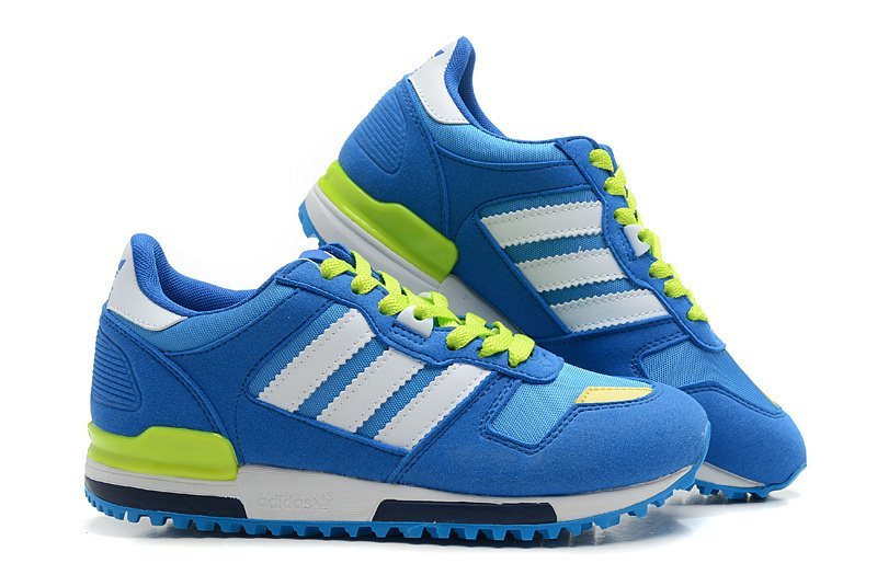 Women\'s Adidas Originals ZX 700 Shoes Royal Blue/Running White/Fluorescent Green G23281