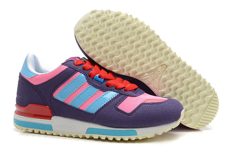 Women's Adidas Originals ZX 700 Shoes Purple/Light Blue/Pink/University Red G23283