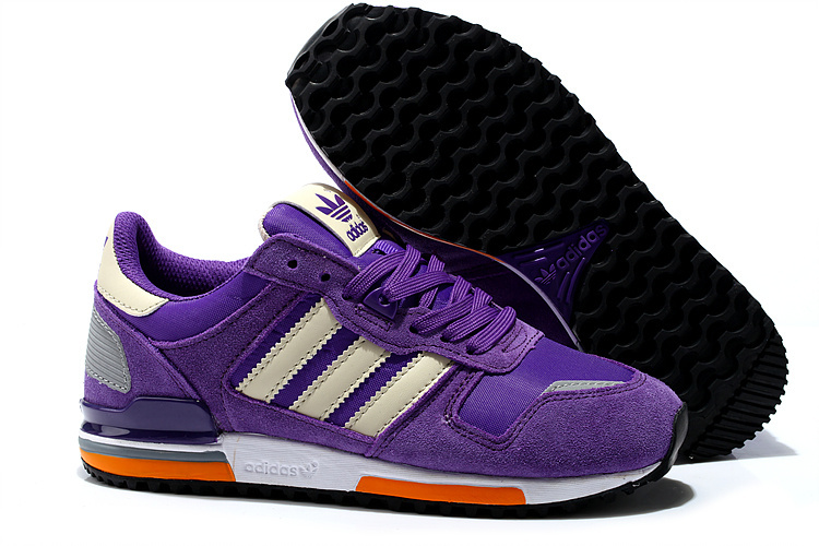 Women's Adidas Originals ZX 700 Shoes Purple/Khaki G45983