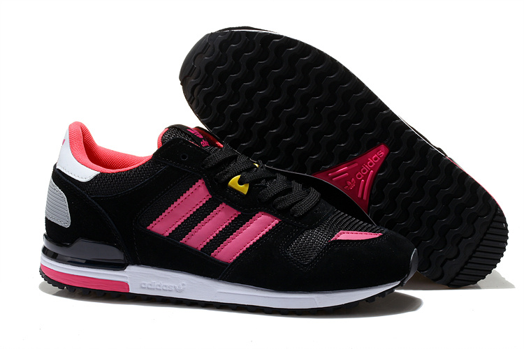 Women\'s Adidas Originals ZX 700 Shoes Black/Fushia M16666