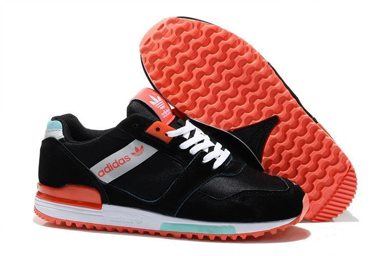 Women's Adidas Originals ZX 700 Shoes Black/Bright Red/Jade M19996