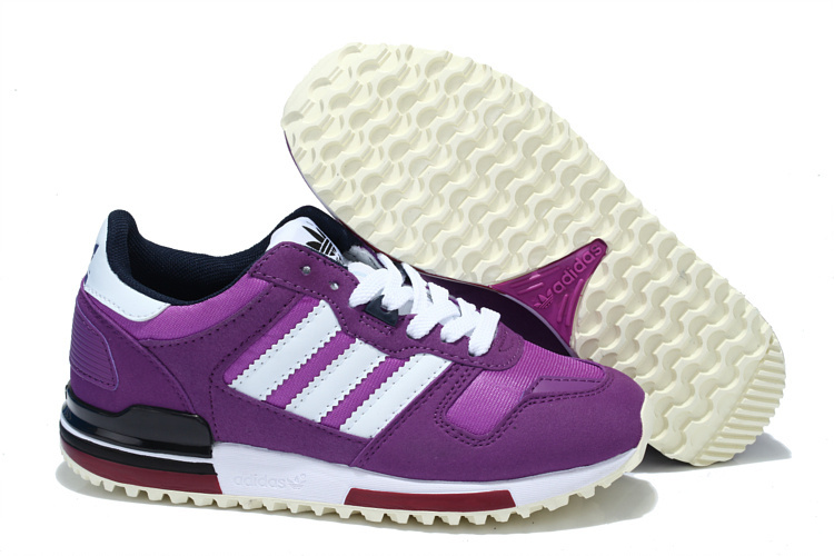 Women's Adidas Originals ZX 700 Shoes Violet/Running White Q20697