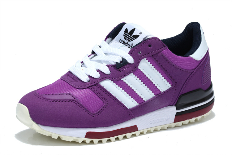 Women\'s Adidas Originals ZX 700 Shoes Violet/Running White Q20697