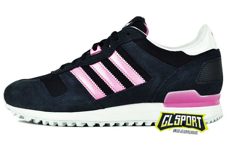 Women\'s Adidas Originals ZX 700 Shoes Dark Grey/Pink D22552