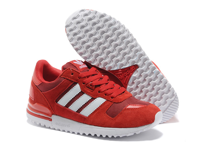 Women's Adidas Originals ZX 700 Shoes University Red/White