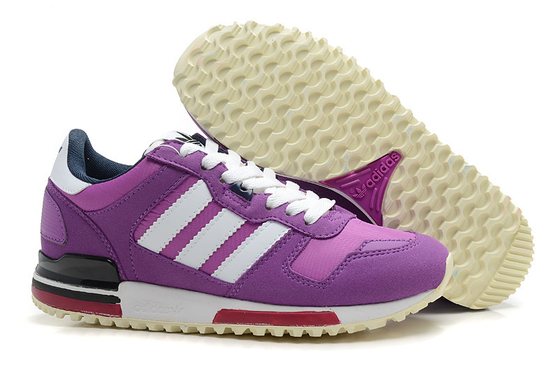 Women's Adidas Originals ZX 700 Shoes Violet/Running White