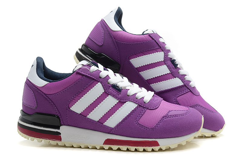 Women\'s Adidas Originals ZX 700 Shoes Violet/Running White