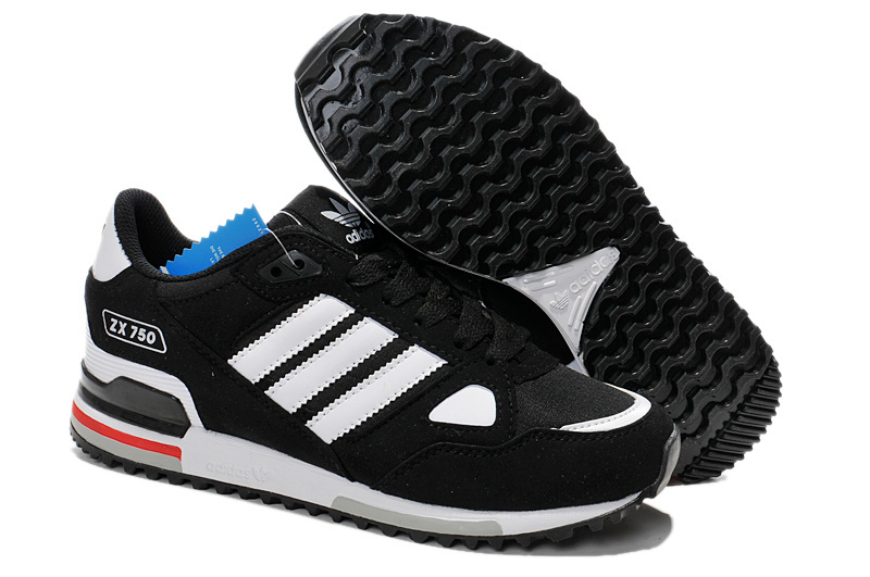Men's/Women's Adidas Originals ZX 750 Shoes Core Black/Running White/Pink G64001