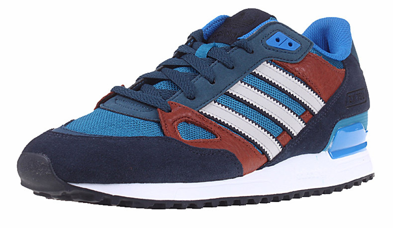 Men's/Women's Adidas Originals ZX 750 Shoes Navy Blue/Bluebird/Burgundy/Runwhite