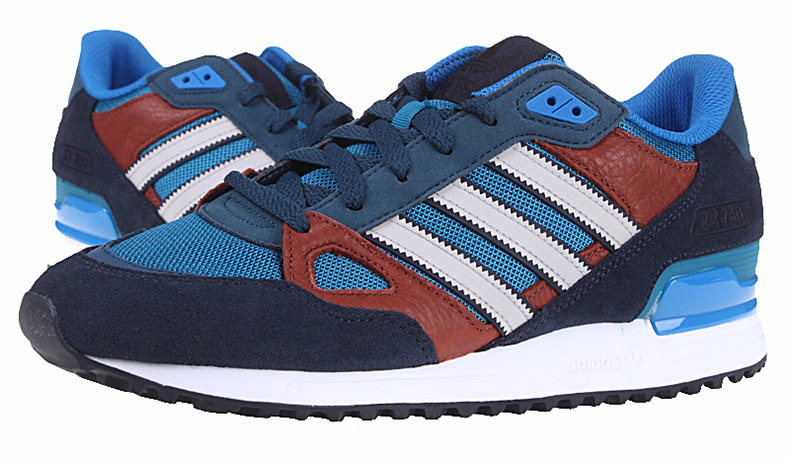 Men\'s/Women\'s Adidas Originals ZX 750 Shoes Navy Blue/Bluebird/Burgundy/Runwhite