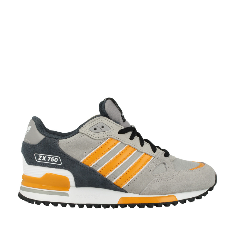 Men\'s/Women\'s Adidas Originals ZX 750 Shoes Light Grey/Charcoal Grey/Orenge
