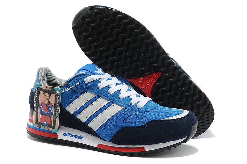 Men's/Women's Adidas Originals ZX 750 Shoes Bluebird/Running White Ftw/St Dark Slate G96718