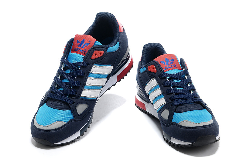 Men\'s Adidas Originals ZX 750 Shoes Navy/Blod Blue/White