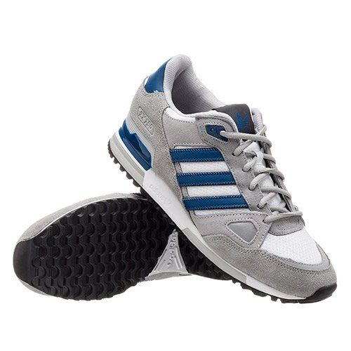 Men\'s Adidas Originals ZX 750 Shoes Grey/Navy B39988