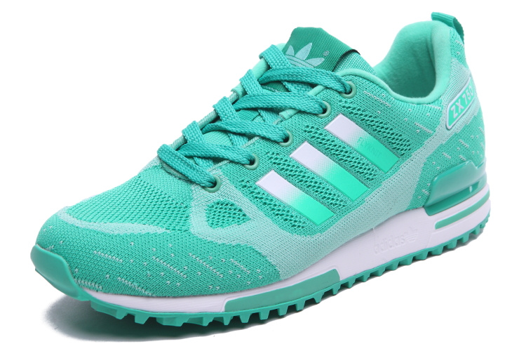 Women\'s Adidas Originals ZX 750 Flyknit Shoes Mint/Silver