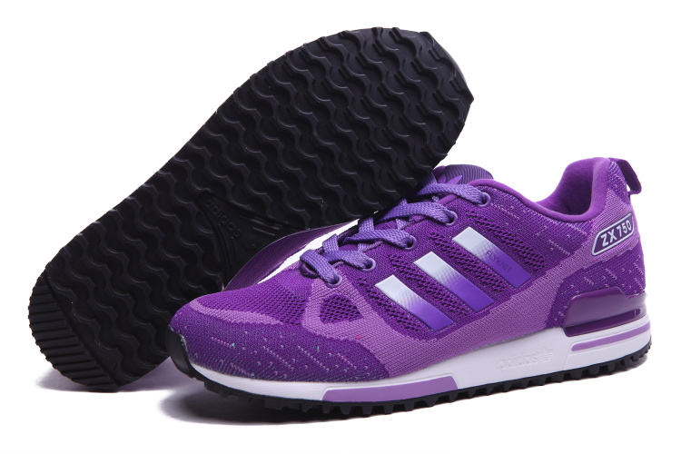 Women's Adidas Originals ZX 750 Flyknit Shoes Violet/Silver