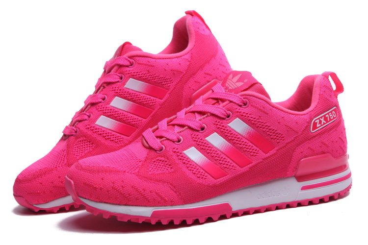 Women\'s Adidas Originals ZX 750 Flyknit Shoes Peachpuff/Silver